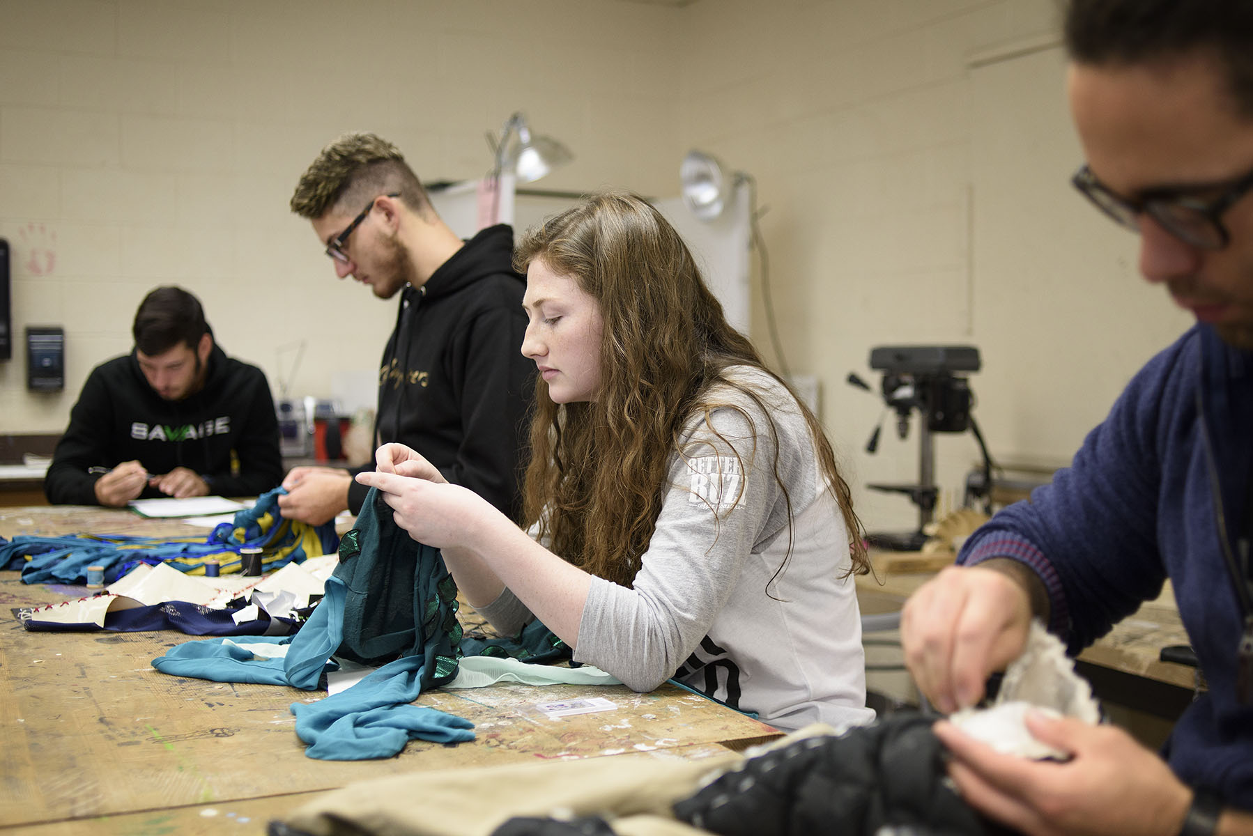 UNT students upcycle materials to create Halloween costumes and help a worthy cause