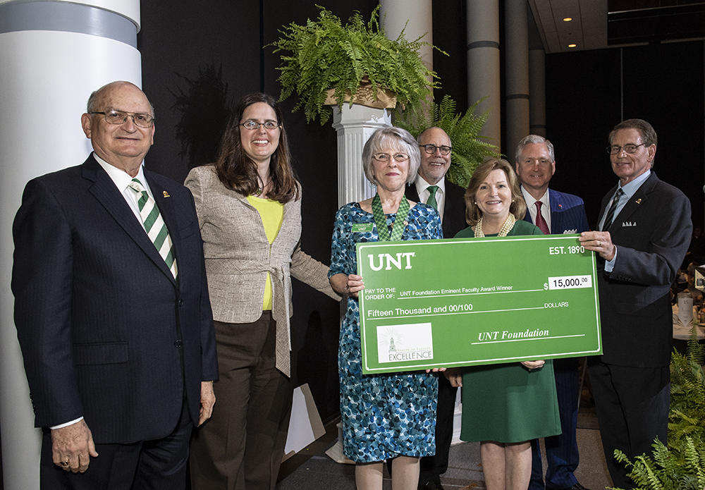 Outstanding UNT faculty honored during annual awards dinner
