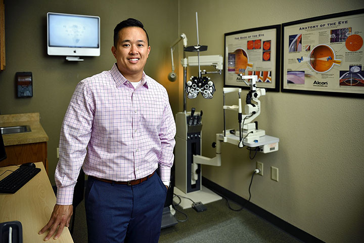 Dr. Toan Tran runs the College Optical Express on UNT campus.