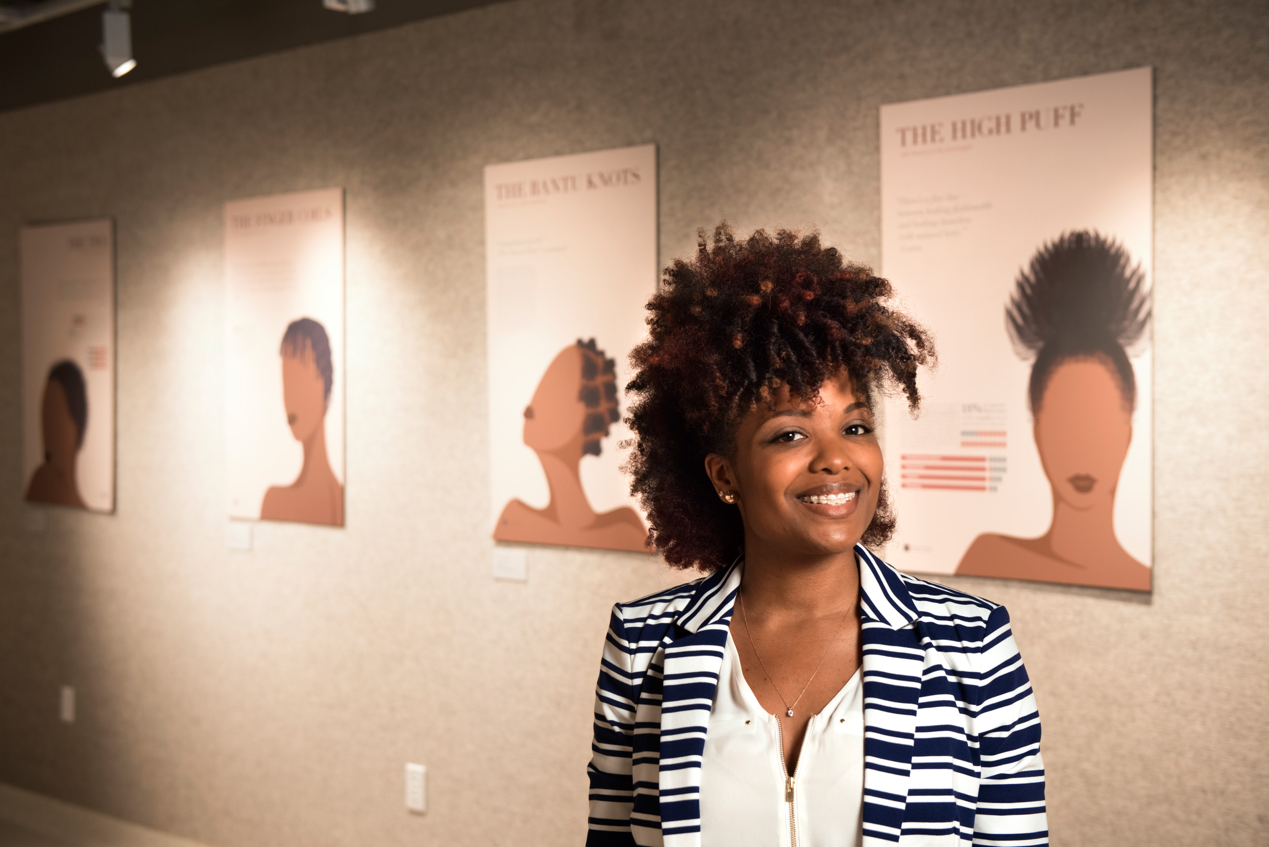 UNT graduate researches African American women and their hair – and hopes to use that information for an app
