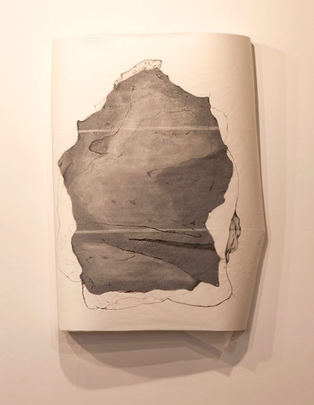 Canvas paper, translucent paper, charcoal, pencil