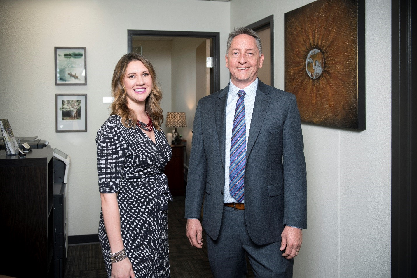 The directors of Denton Life of Purpose on the University of North Texas campus are Carly Shannon, clinical director and a UNT alumna, and Brent Harper, executive director.