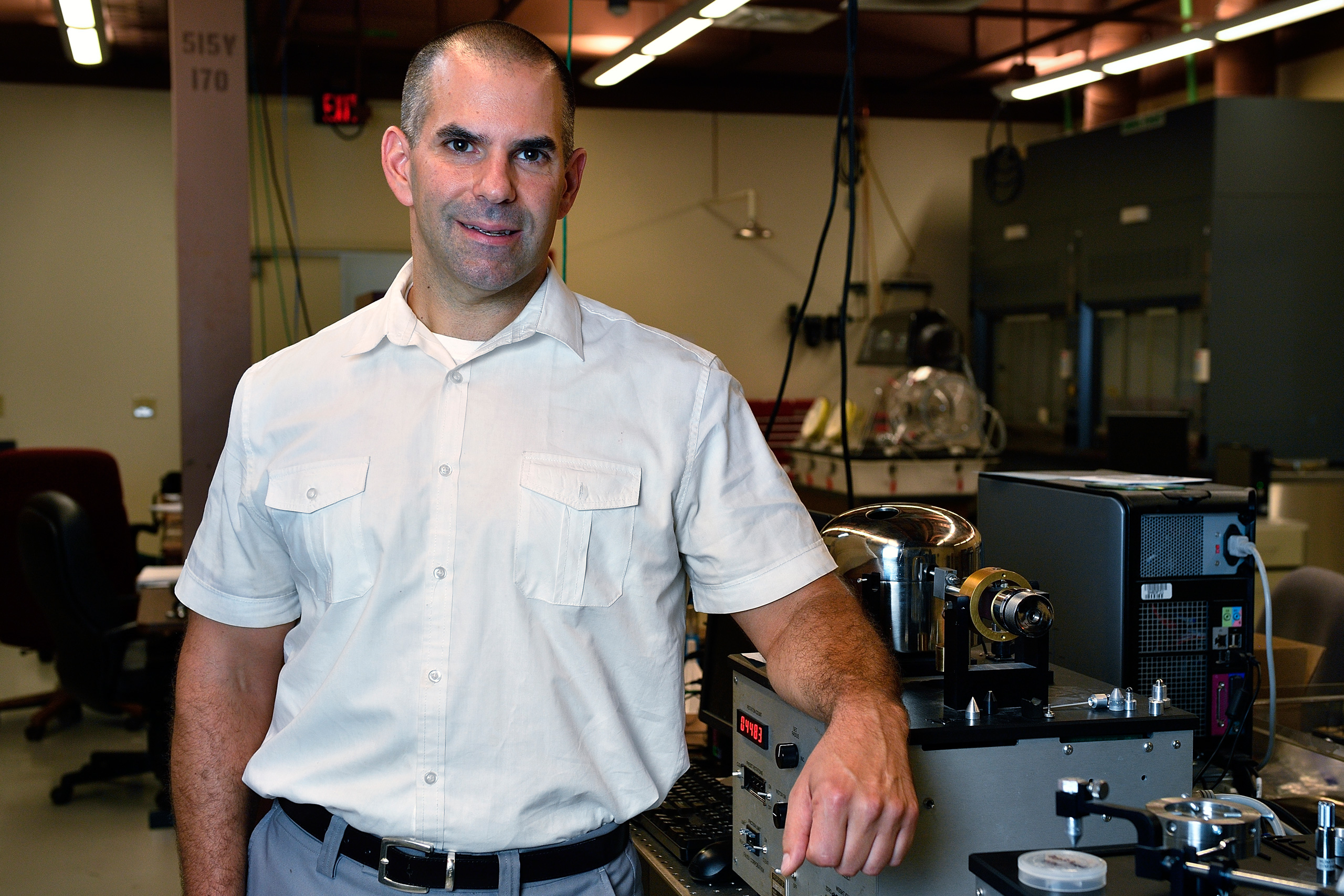 UNT Professor of Materials Science and Engineering Thomas Scharf.
