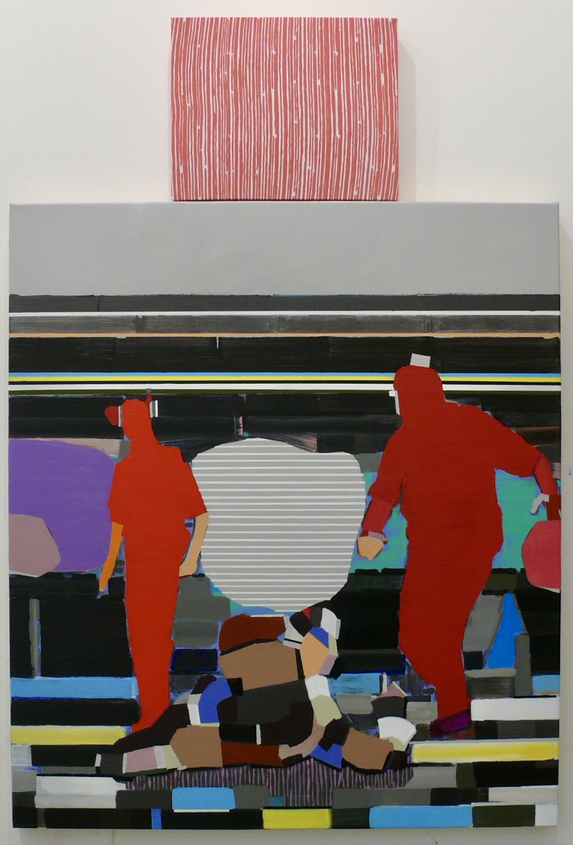 The works of Matthew Bourbon, associate professor of drawing and painting at the