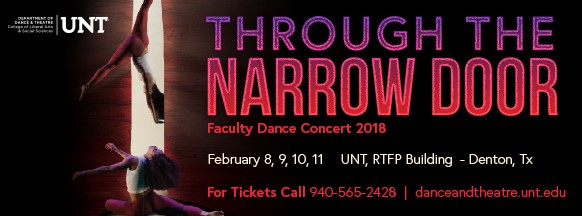 "Affirmation of life is theme of UNT's Faculty Dance Concert, ""Through the Narrow Door,"" Feb. 8-11"