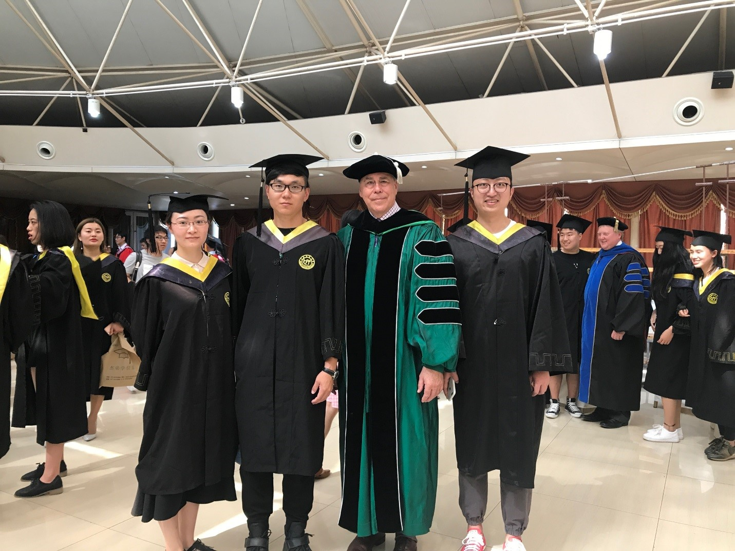 UNT President Neal Smatresk recently attended the President's Forum and 14th Graduation Ceremony of the Sino-American 1+2+1 China Transfer Program in Dalian City, China.
