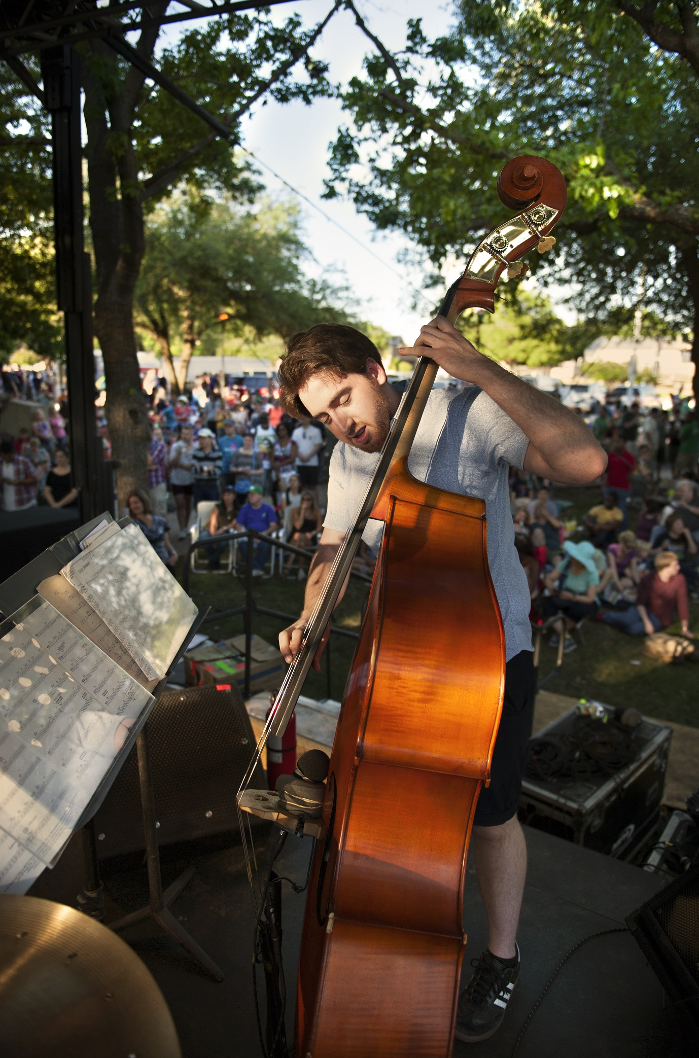 UNT College of Music student Henry Beal performs on the University of North Texa