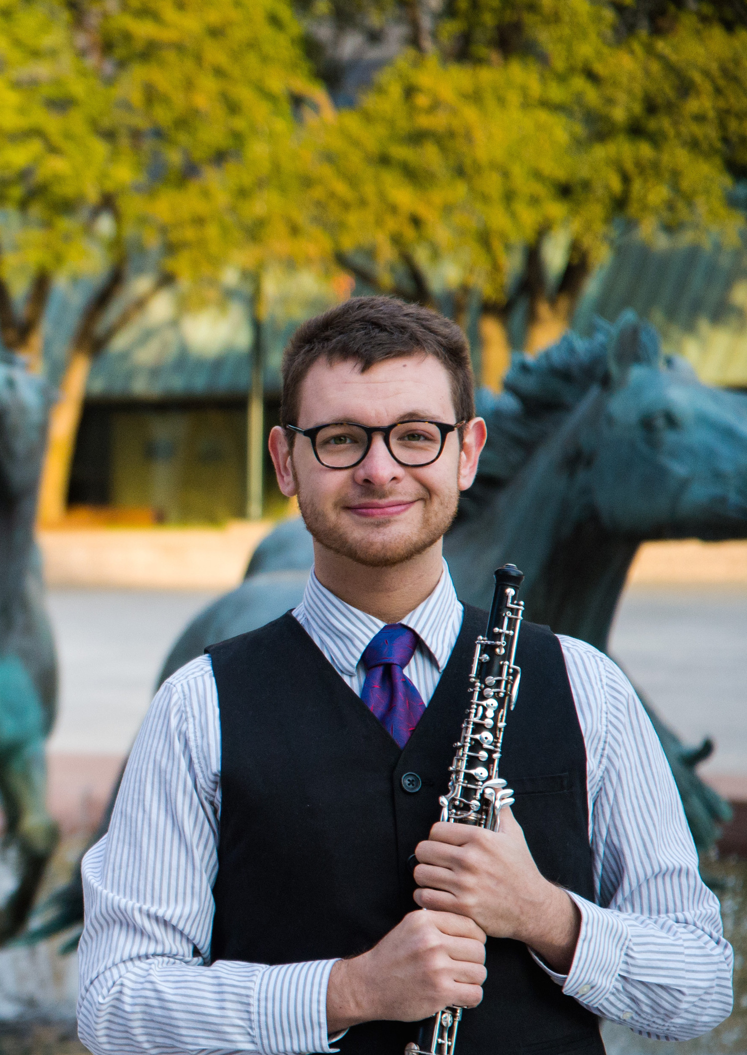 Jonathan Thompson, a graduate student and Oboe Teaching Fellow at UNT, won the 2017-2018 Presser Graduate Music Award.