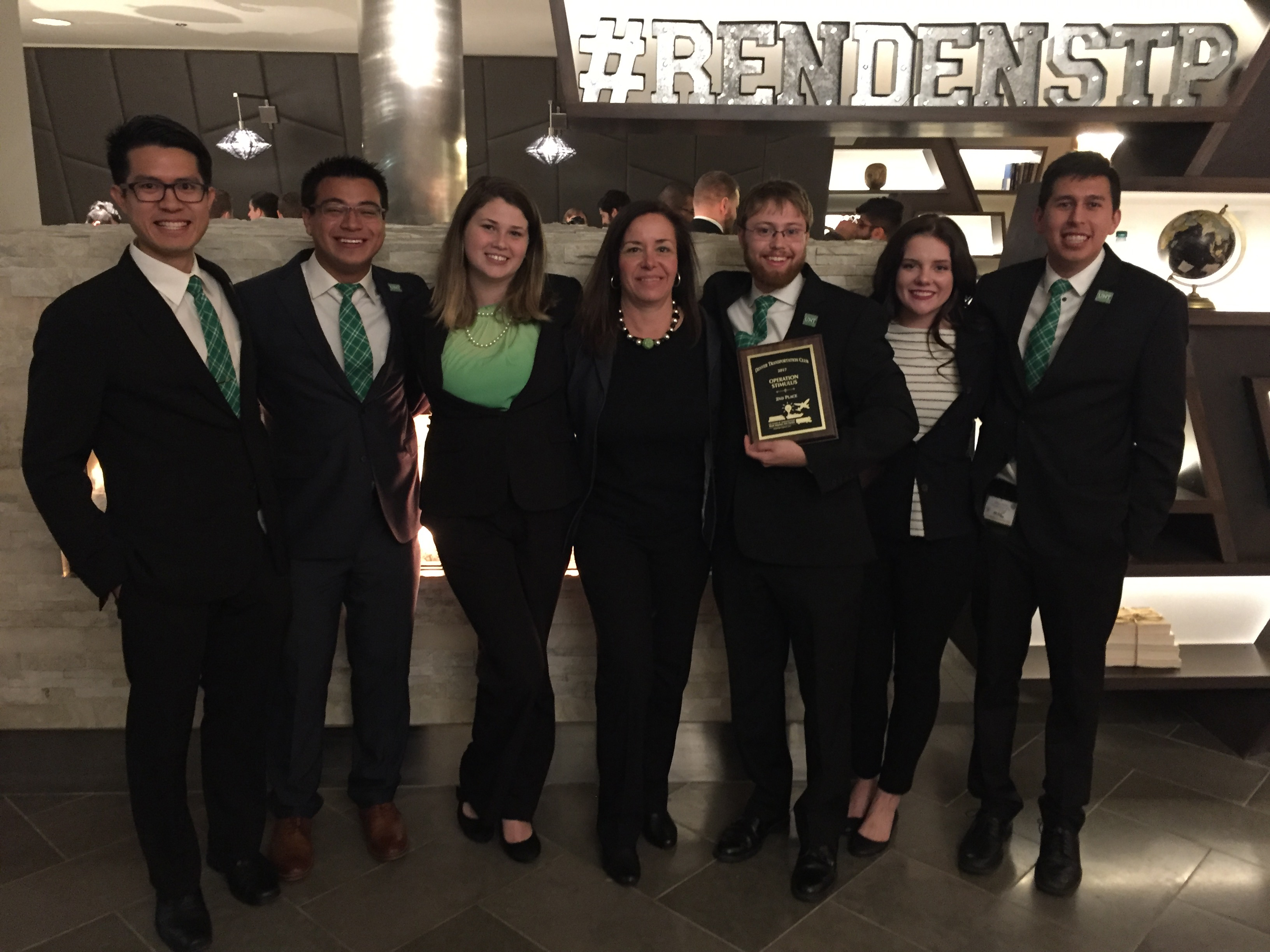 UNT students take second place in logistics challenge