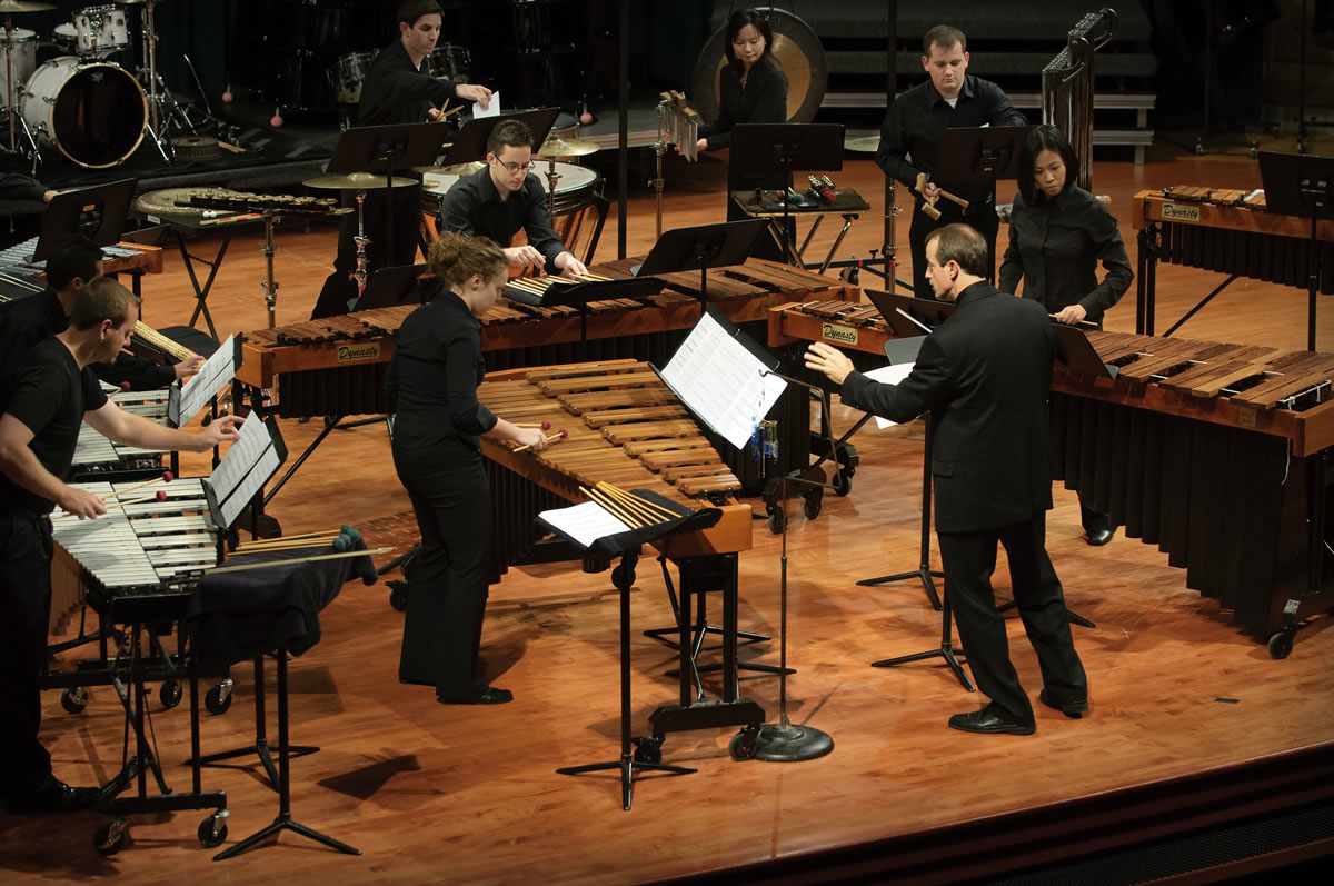 UNT Percussion Ensemble performing