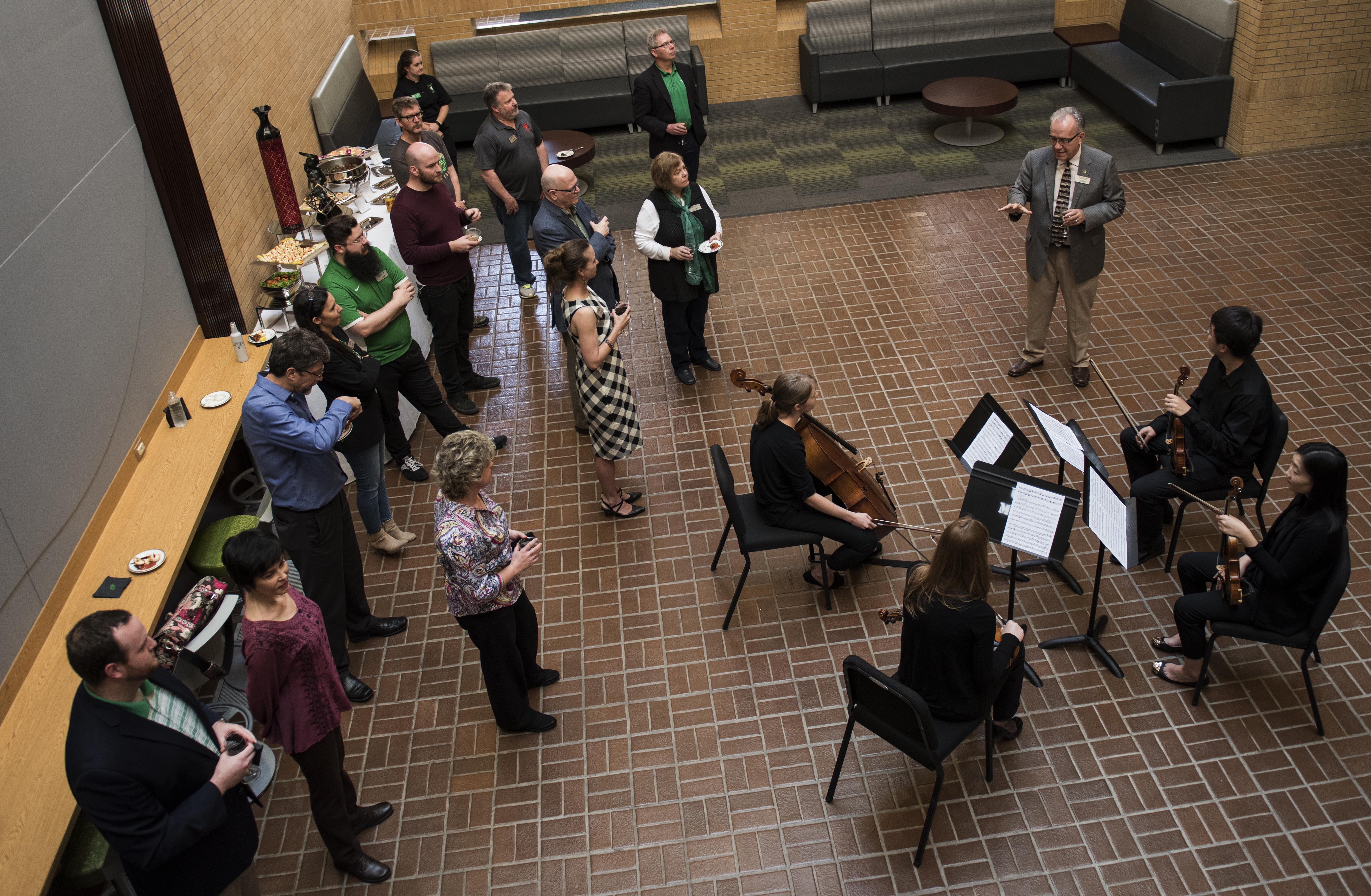 The University of North Texas College of Music held a reception March 24 to laun