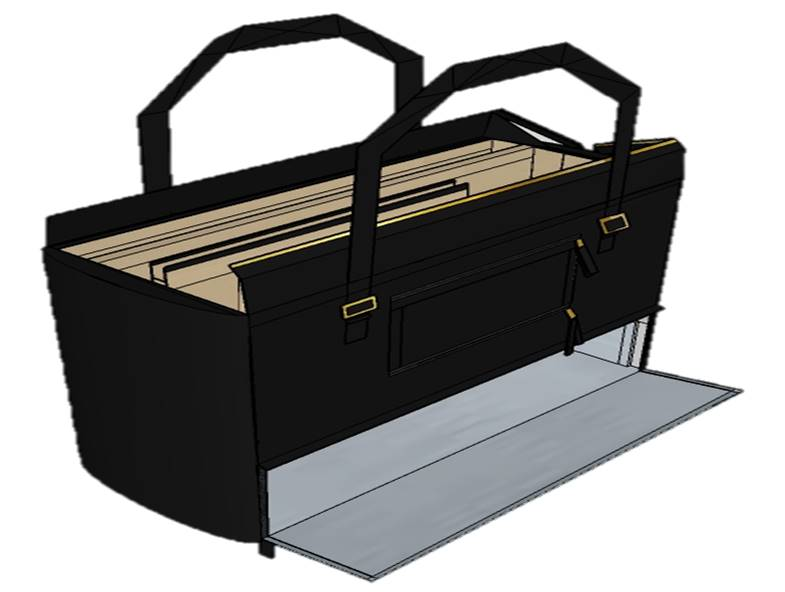 "Rendering of the Medici RFID Trattoria Tote, a ""modern woman's briefcase"""