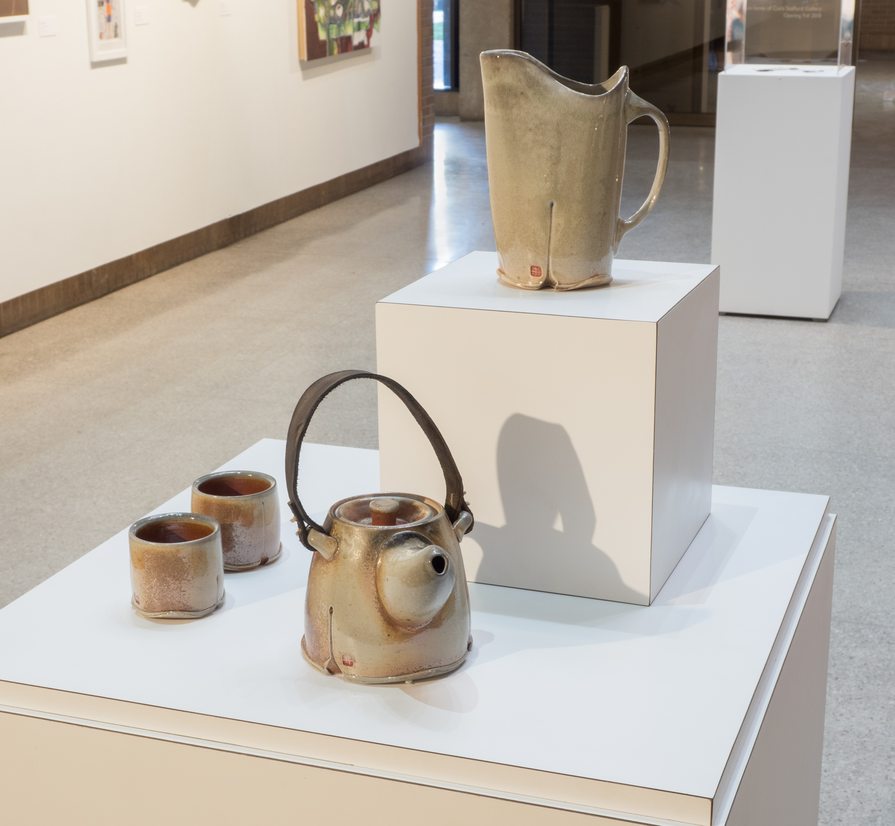 Shino Pitcher and Leather Strap Teapot Set by Horacio Casillas, winner of 3rd prize in the 2017 Voertman competition.