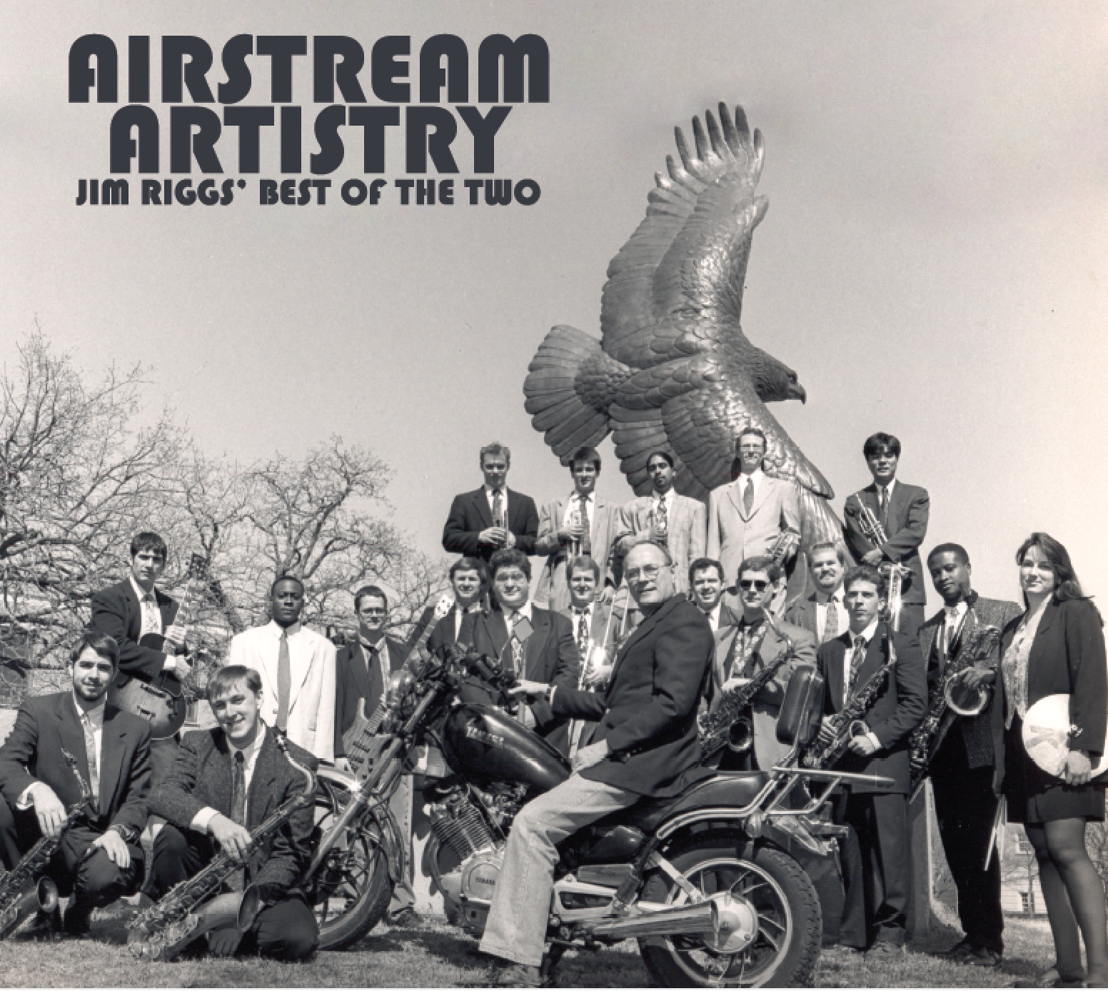 "A three-CD boxset tribute to Jim Riggs – ""Airstream Artistry: Jim Riggs' Best of the Two"" – includes 40 selections from 10 CDs recorded by the Two O'Clock Lab Band under his direction."