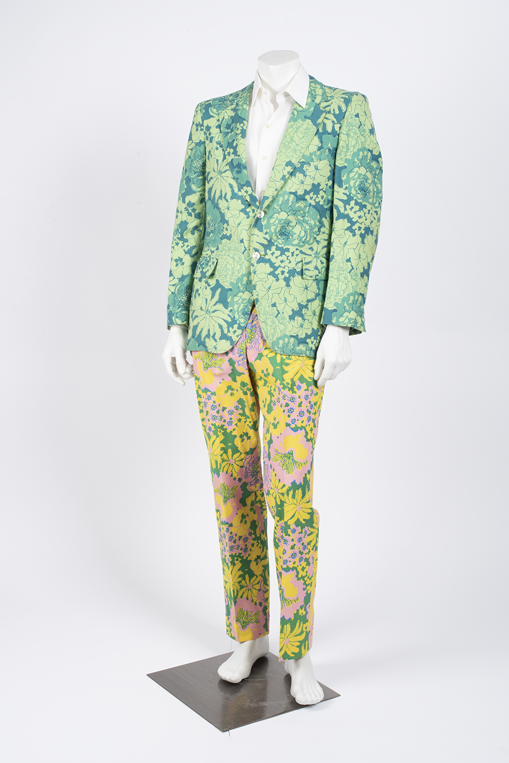 This 1970s Lilly Pulitzer suit will be one of 14 menswear looks from the Texas Fashion Collection on exhibit in