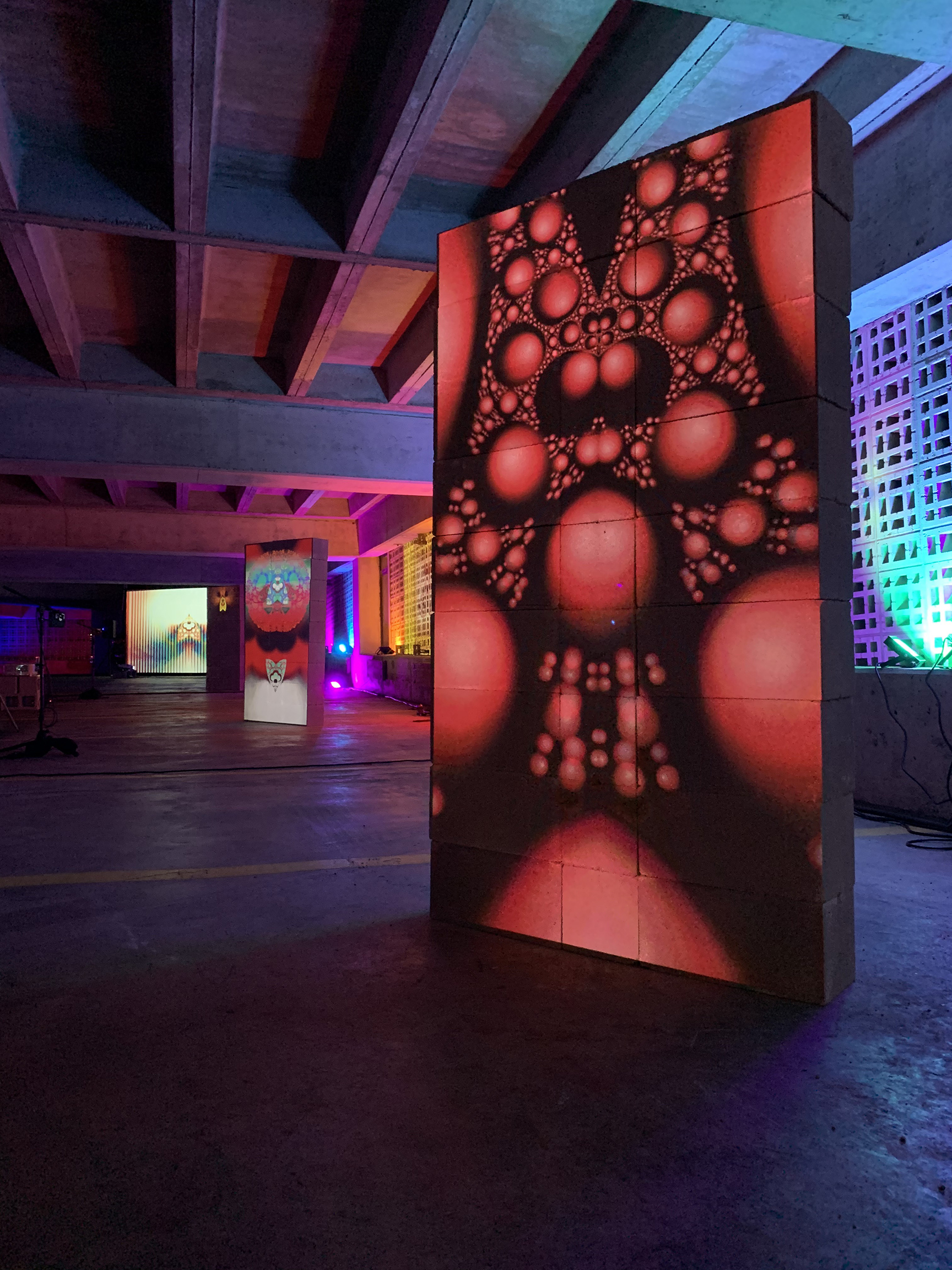 UNT alum, faculty and students transform Dallas parking garage into immersive art exhibit
