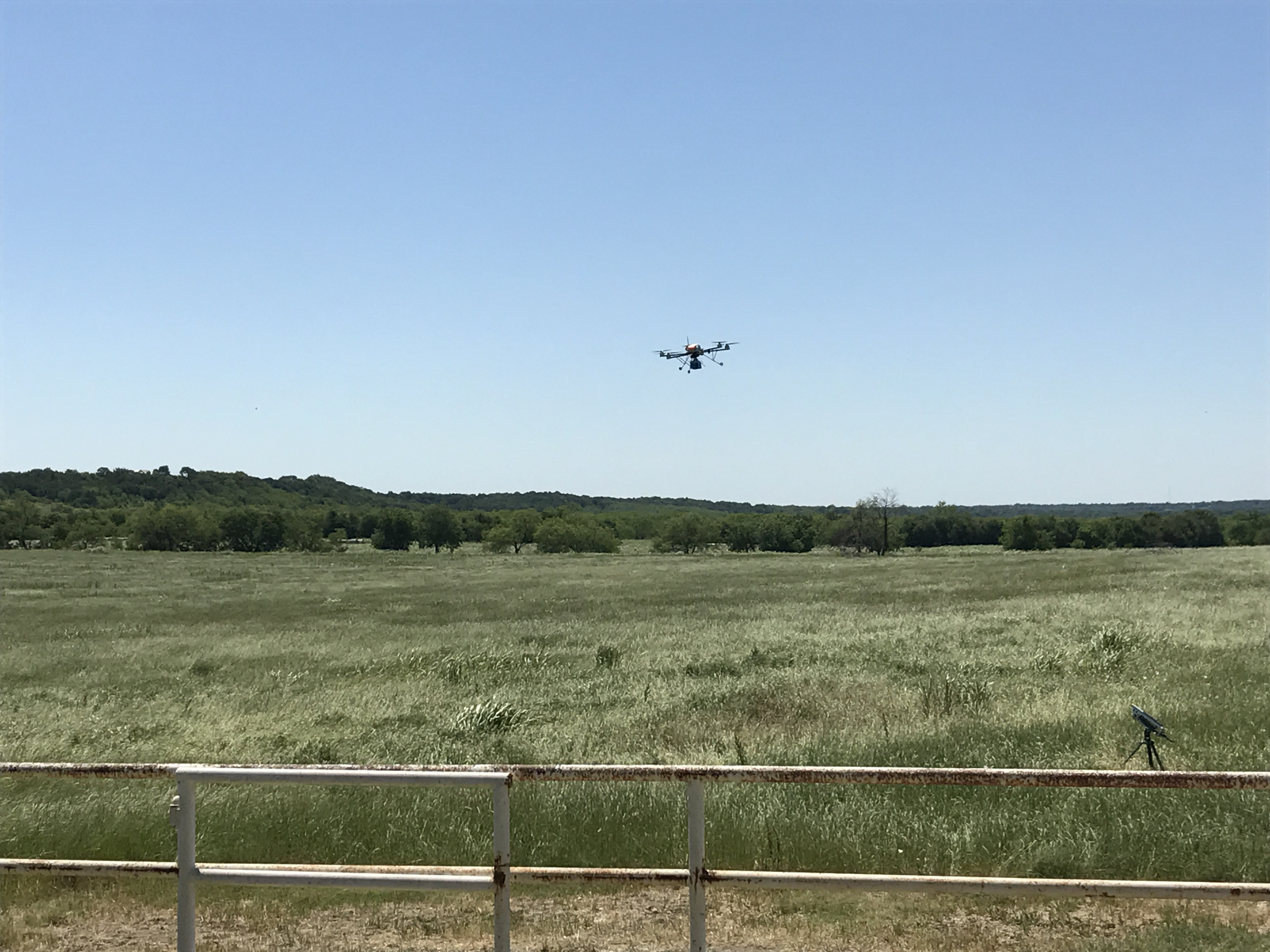 UNT engineering professor Kamesh Namuduri tested his mobile cellular service with a drone team in Waxahachie.