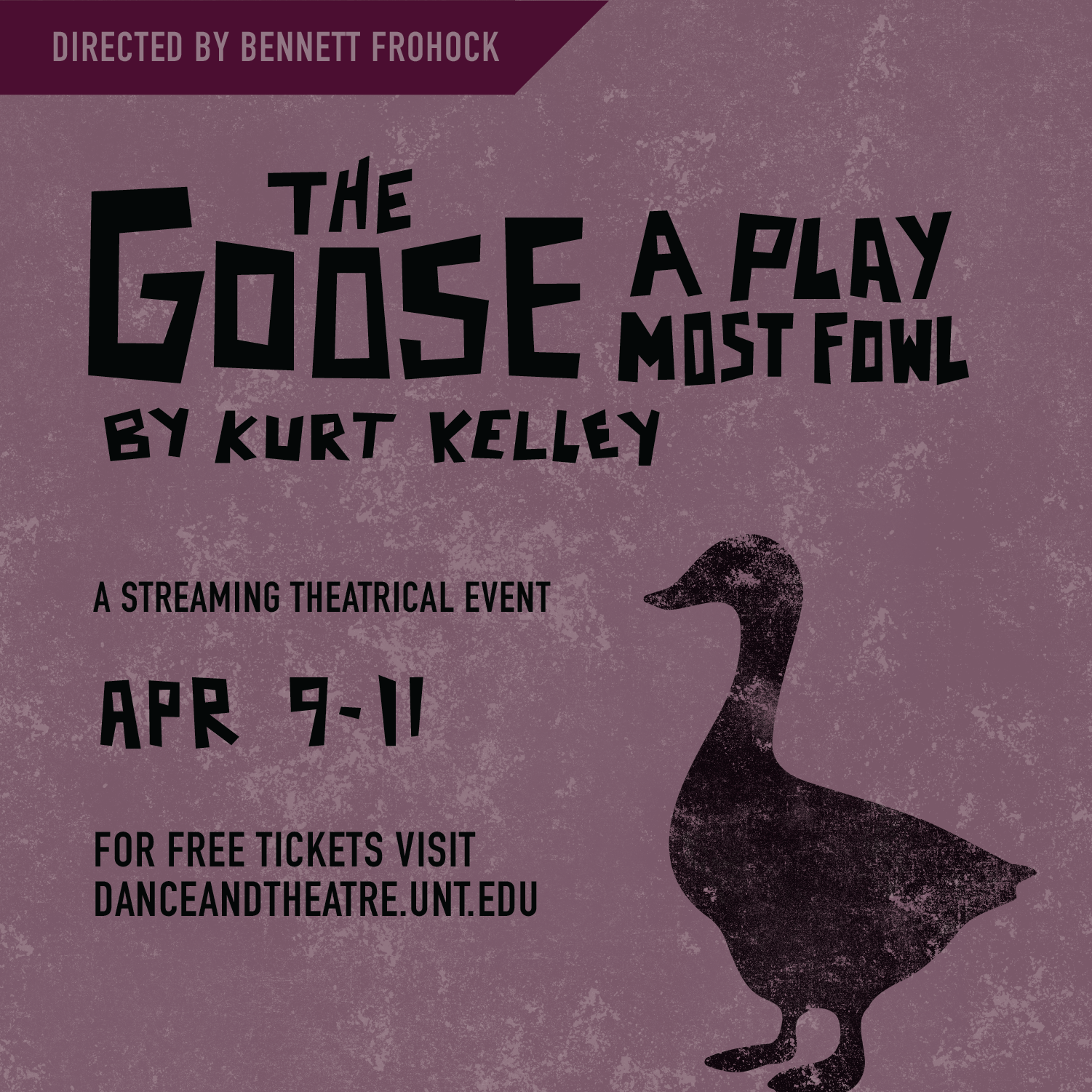 UNT Theatre presents free virtual performance of student-written and -directed play 'The Goose'
