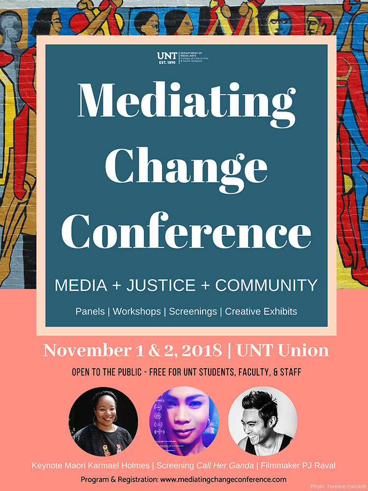 UNT conference to look at media arts' role in creating a more equitable, just society