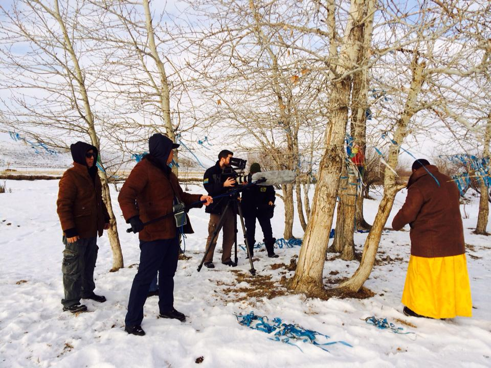 On location filming for Mongolia: Earth and Spirit