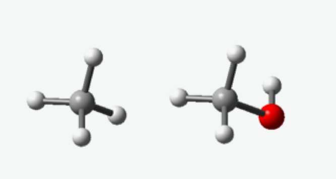 Methane (left) Methanol (right)