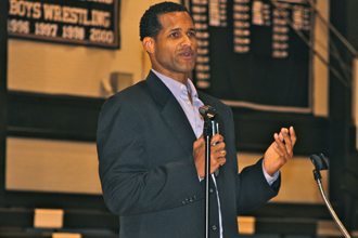ESPN analyst and former NBA player Stephen Howard presents,
