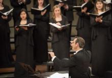 Allen Hightower directs the A Cappella Choir.