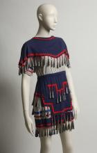 Fashion jingle dress by an unknown Native American designer, ca. 1950.  UNT Texa