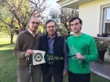 From left to right: Ernesto Usabiaga, a 1959 UNT alumnus; Jorge Ernesto Usabiaga