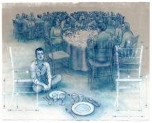 """""""Thoroughly Populated Universe"""" Andrew DeCaen Lithograph"""