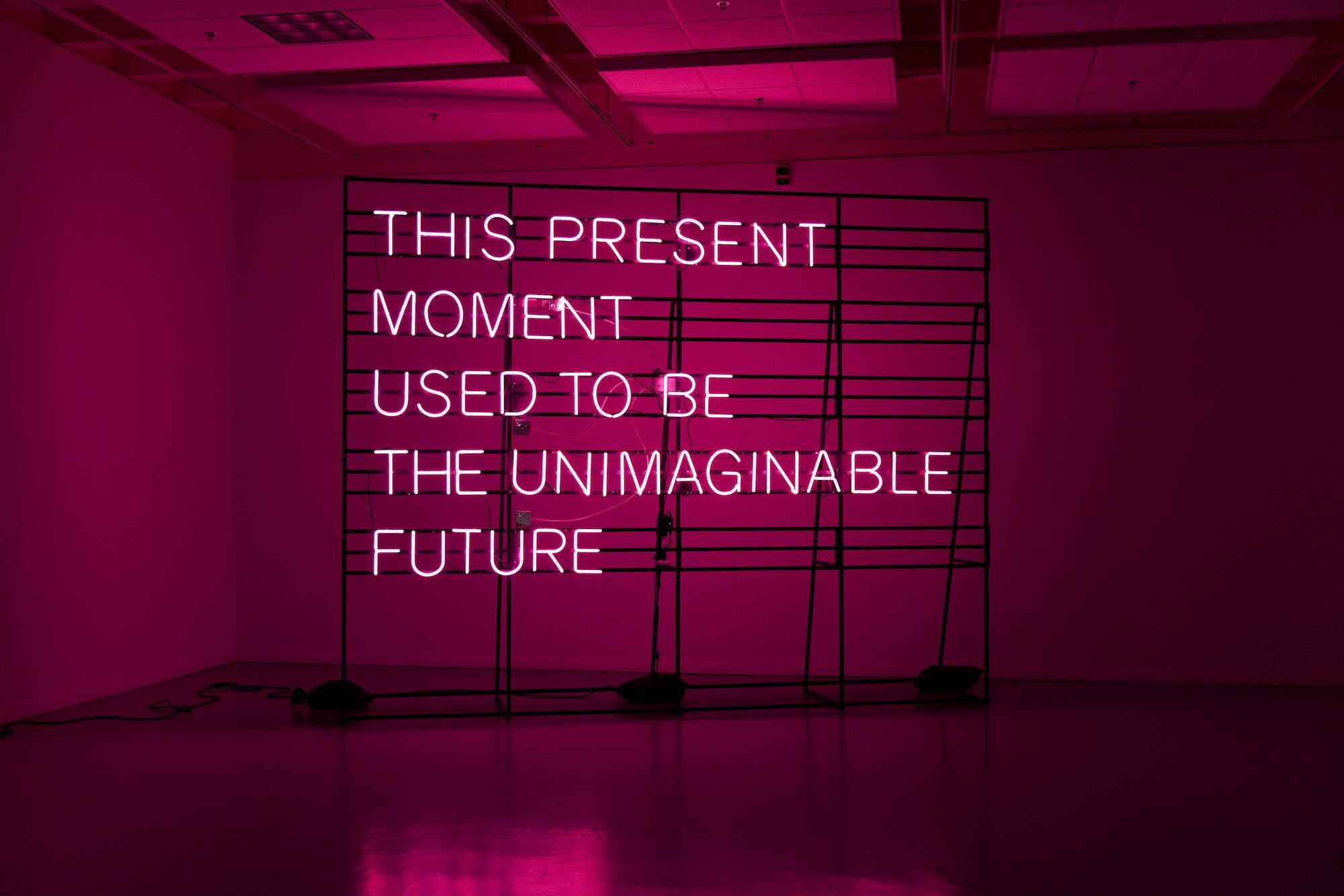 "Photo of Alicia Eggert's ""This Present Moment"" sculpture"