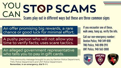 UNT, TWU and Denton police departments partner to educate community on scams