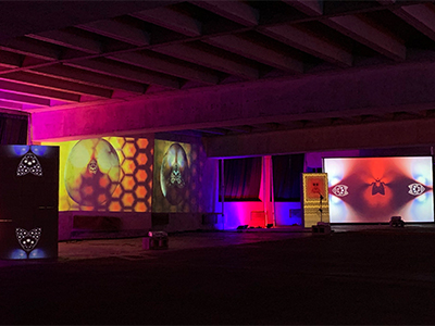 UNT alum, faculty and students transform Dallas parking garage into immersive art exhibit