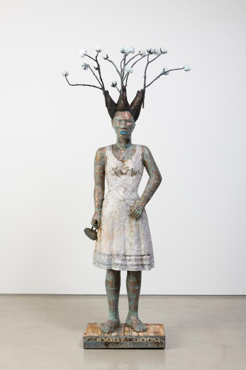 White Guise AIS18-19 A.jpg Alison Saar White Guise, 2018 wood, copper, ceiling tin, bronze and tar object: 91 x 40 x 30 in. Collection of Jordan D. Schnitzer (HIPM) Courtesy the artist